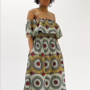 African off shoulder dress